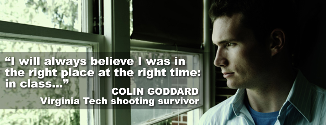 Colin Goddard, Virginia Tech shooting survivor